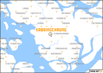 map of Kabaingchaung