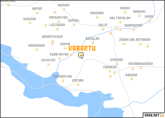 map of Kabartū