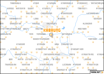 map of Kabaung