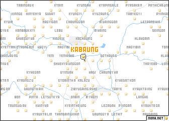 map of Kabaung