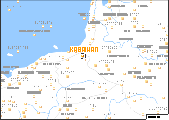 map of Kabawan