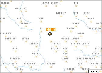 map of Kaba