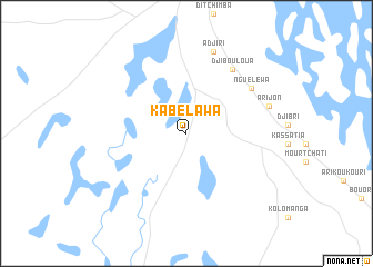 map of Kabélawa