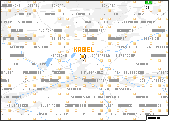 map of Kabel