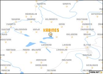 map of Kabinės