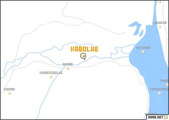 map of Kabolwe