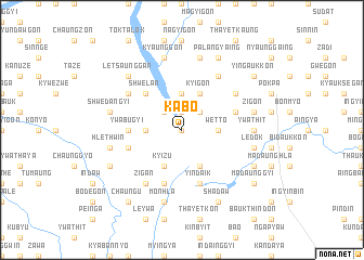 map of Kabo