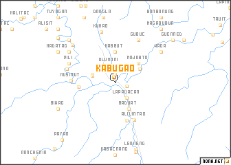 map of Kabugao