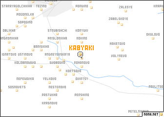 map of Kabyaki