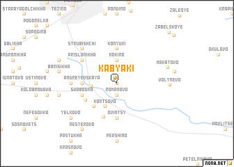 map of Kabyaki