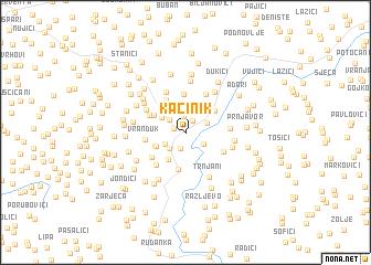 map of Kačinik