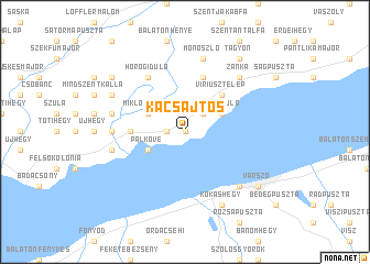map of Kacsajtos