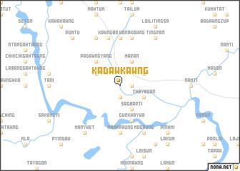 map of Kadawkawng