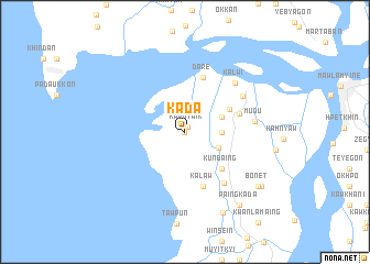 map of Kadā