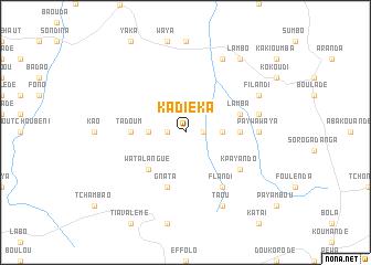 map of Kadiéka