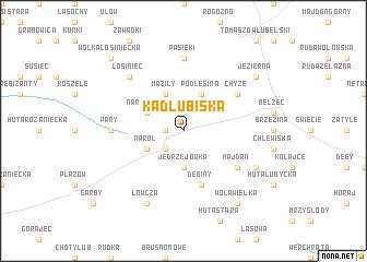 map of Kadłubiska