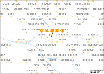 map of Kadłubówka