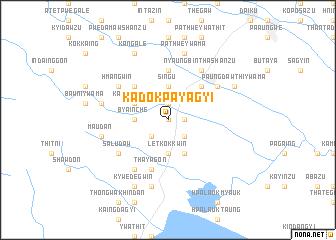 map of Kadok Payagyi
