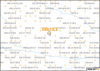 map of Kadzice