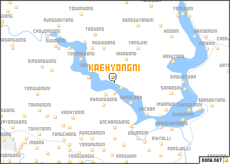 map of Kaehyŏng-ni