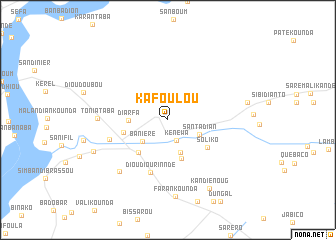 map of Kafoulou