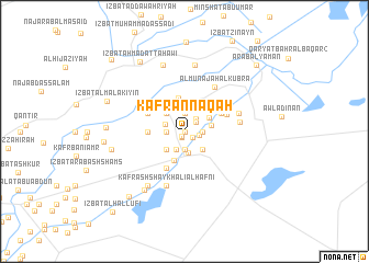 map of Kafr an Nāqah