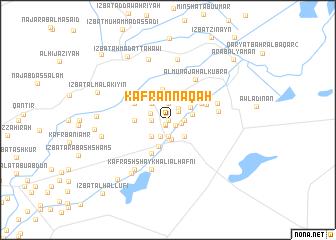 map of Kafr an Nāqah