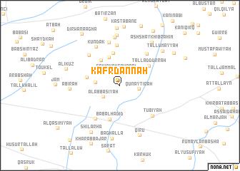 map of Kafr Dannah