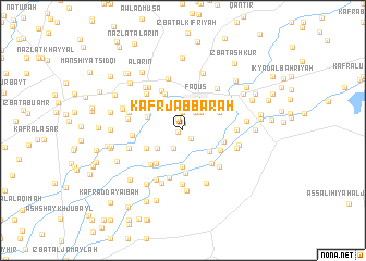 map of Kafr Jabbārah