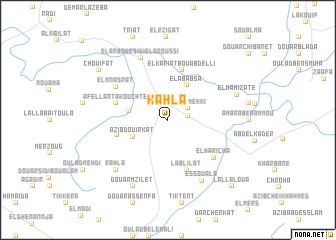 map of Kahla
