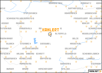 map of Kahlert
