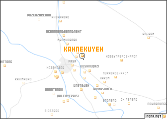 map of Kahnekūyeh