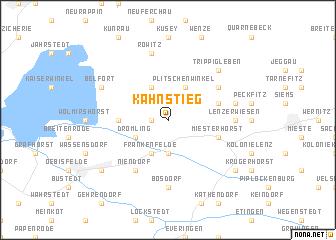 map of Kahnstieg