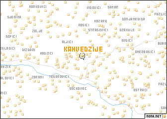 map of Kahvedžije