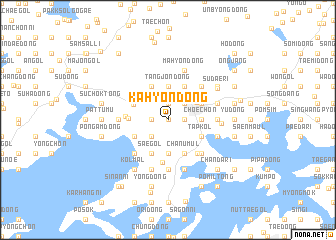 map of Kahyŏn-dong