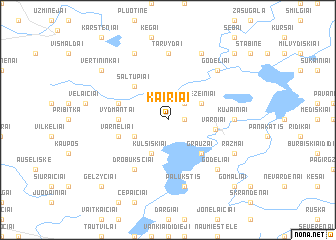 map of Kairiai