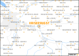 map of Kaiseraugst