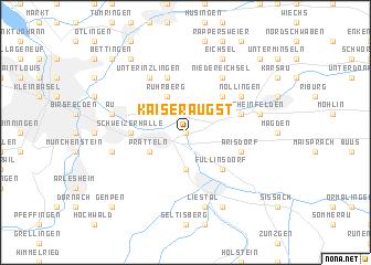 map of Kaiseraugst