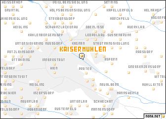 map of Kaisermühlen