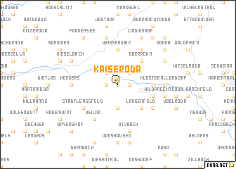map of Kaiseroda