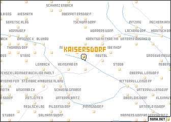 map of Kaisersdorf