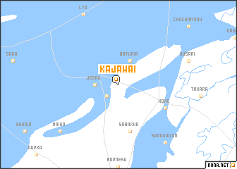 map of Kajawai