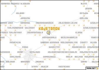 map of Kajetanów