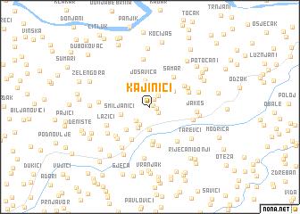 map of Kajinići