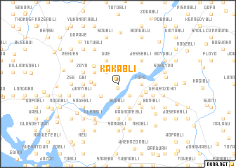 map of Kakabli