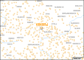 map of Kakanj