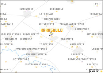 map of Kakasdůlő