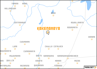 map of Kakenamaya