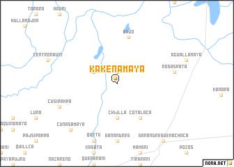 map of Kakenamaya