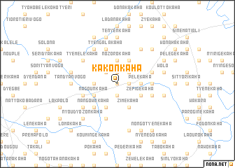 map of Kakonkaha